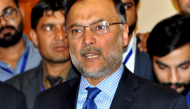 Ahsan Iqbal Interior Minister of Pakistan