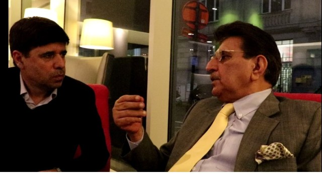 Interview of AJK PM Raja Farooq Haider in Brussels Belgium by Overseas Tribune