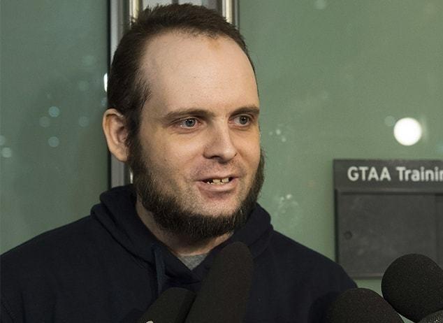 Joshua Boyle at Pearson International Airport Toronto