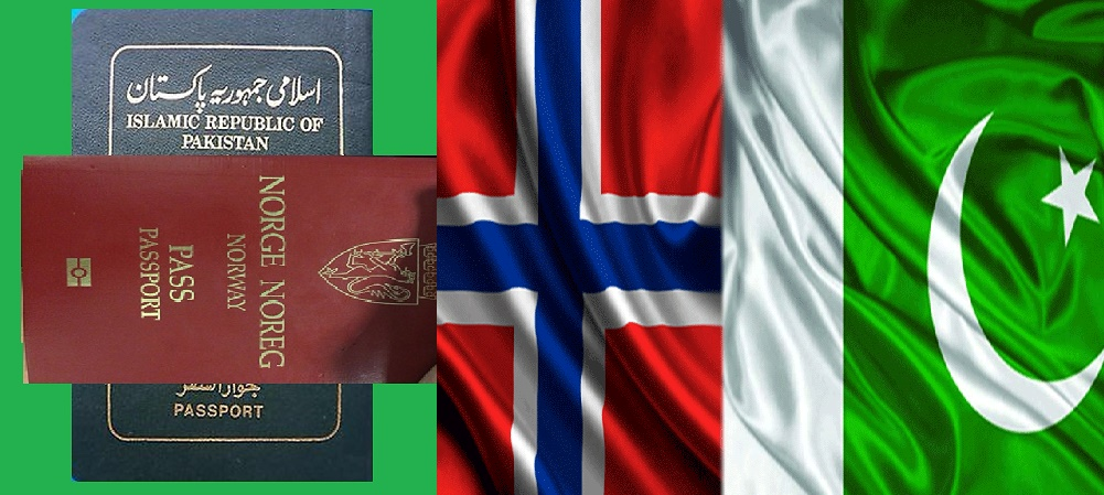 Norway Pakistan Flags