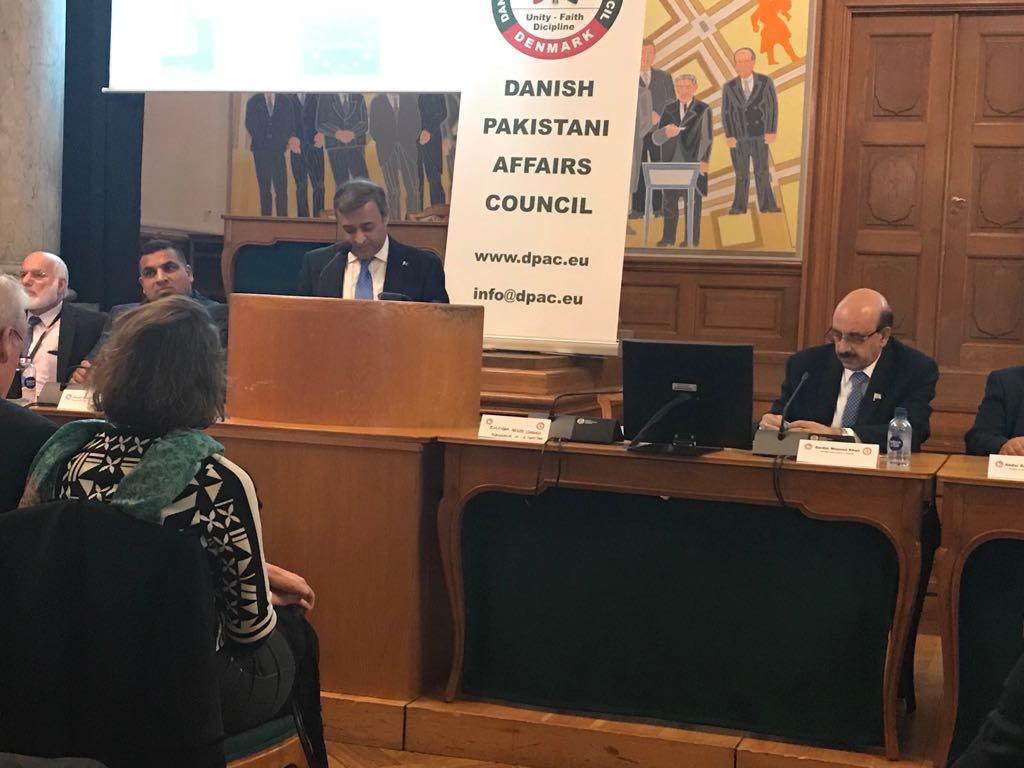 Sardar Masood Khan in Kashmir Conference at Danish Parliament 6