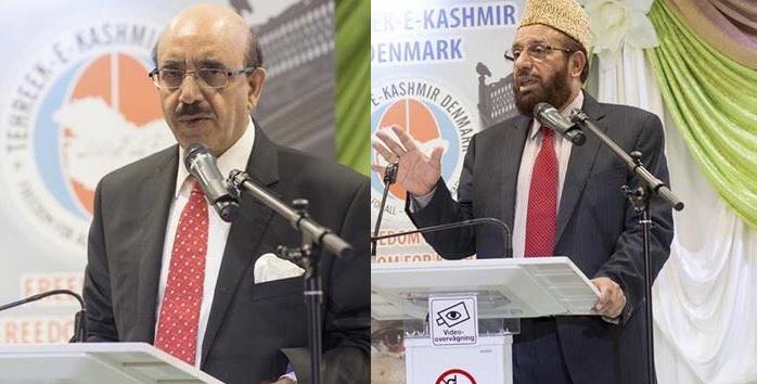 Sardar Masood and Sardar Yousaf in a seminar organized by Danish Pakistani Affairs Council and Tehreek e Kashmir Denmark
