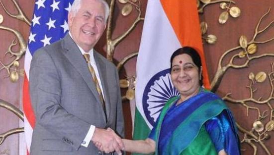 Tillerson meets Sushma Sawaraj