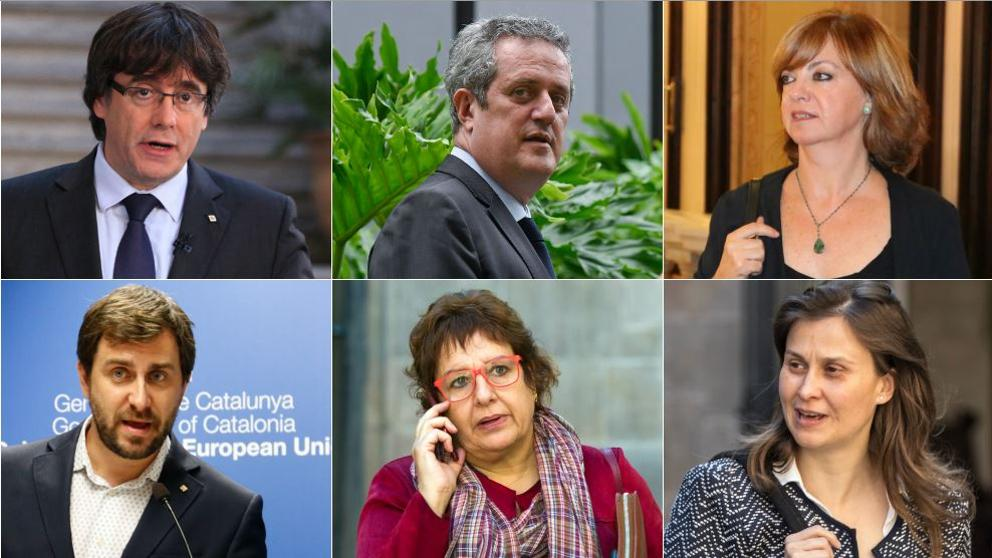 Ex catalan leader Carles Puigdemont reaches in Brussels Belgium