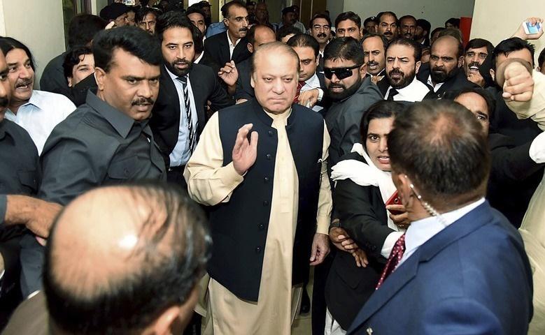 Nawaz Sharif at Anti Corruption Court Islamabad