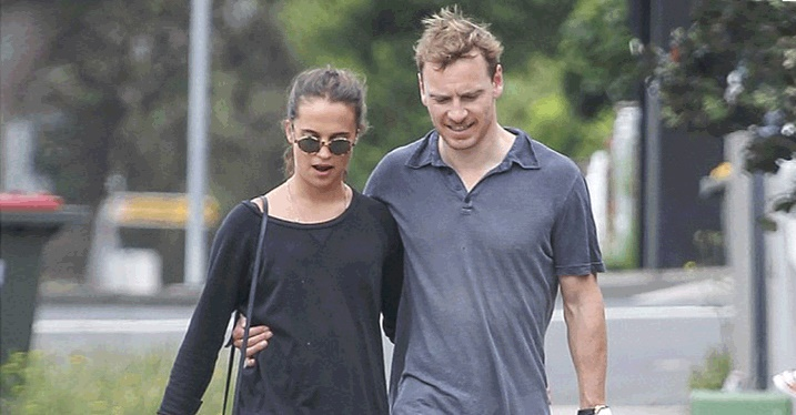 Alicia Vikander and Michael Fassbender - Daily Mail