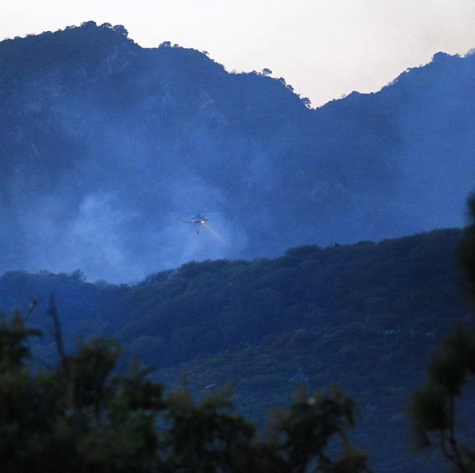 Margallah Hills on Fire