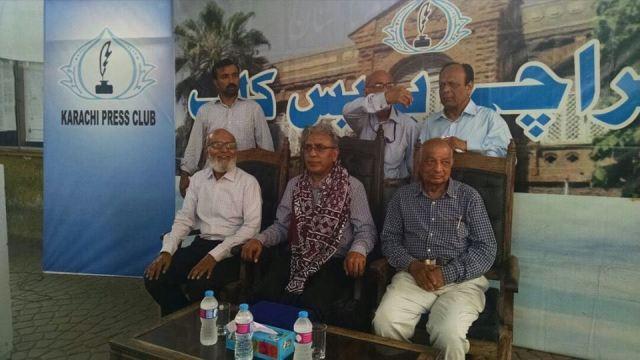 Ali Raza Syed in Karachi Press Club