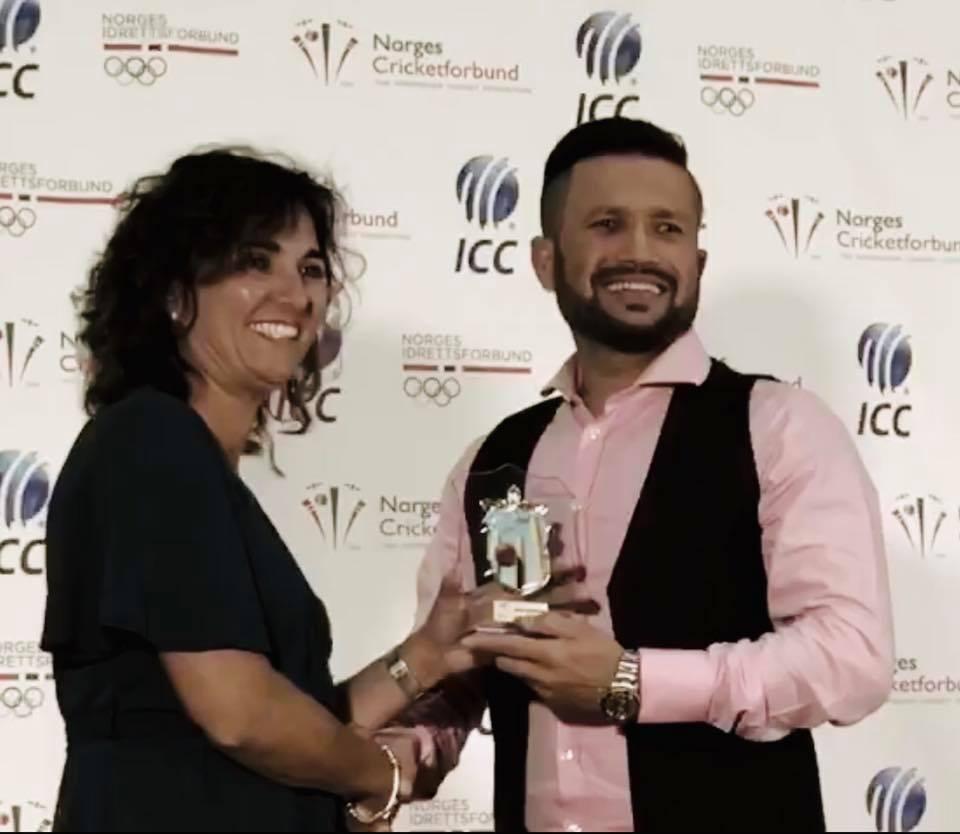 ناروے میں پاکستانی کرکٹربہترین کھلاڑی قرار، یہ میری پوری ٹیم کی کامیابی ہے، تجمل شاہ