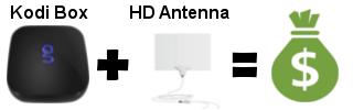 kodi antenna savings