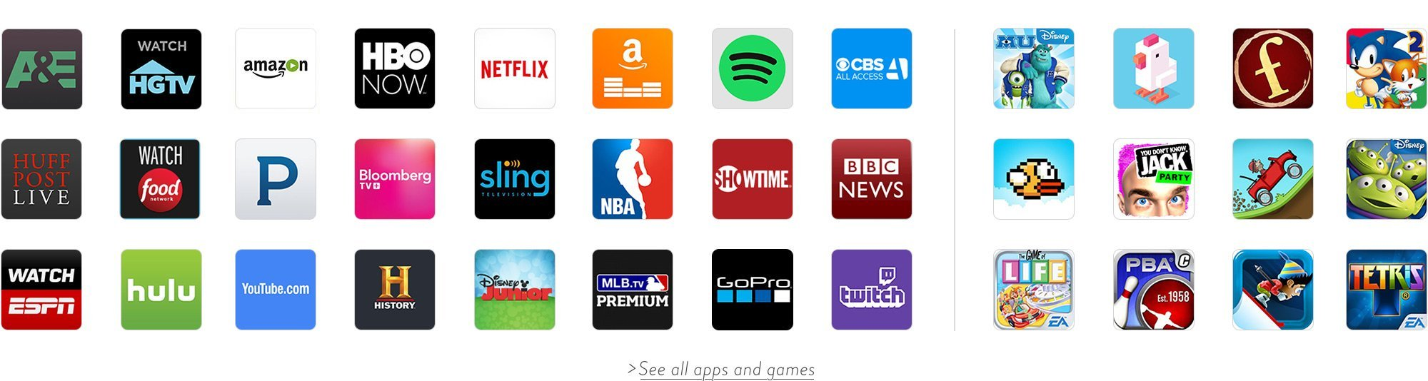 fire tv app list