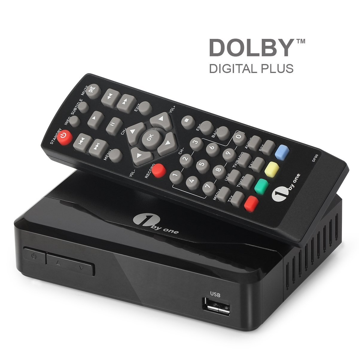 Digital Tuner for Off-Air Antenna Reception with HDMI//Composite//USB /& DVR