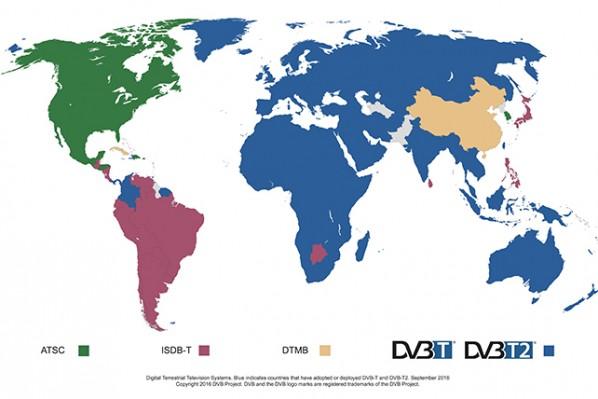 DVB World Map