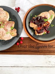 air fried pork chops with cranberry