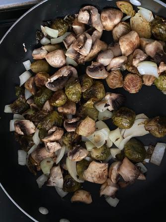 Roast and Saute mushrooms