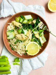 chicken bok choy stir fry with lemon