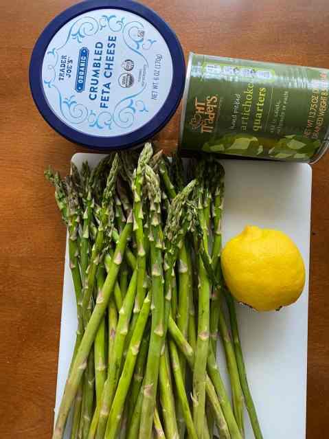 asparagus, artichoke, lemon feta