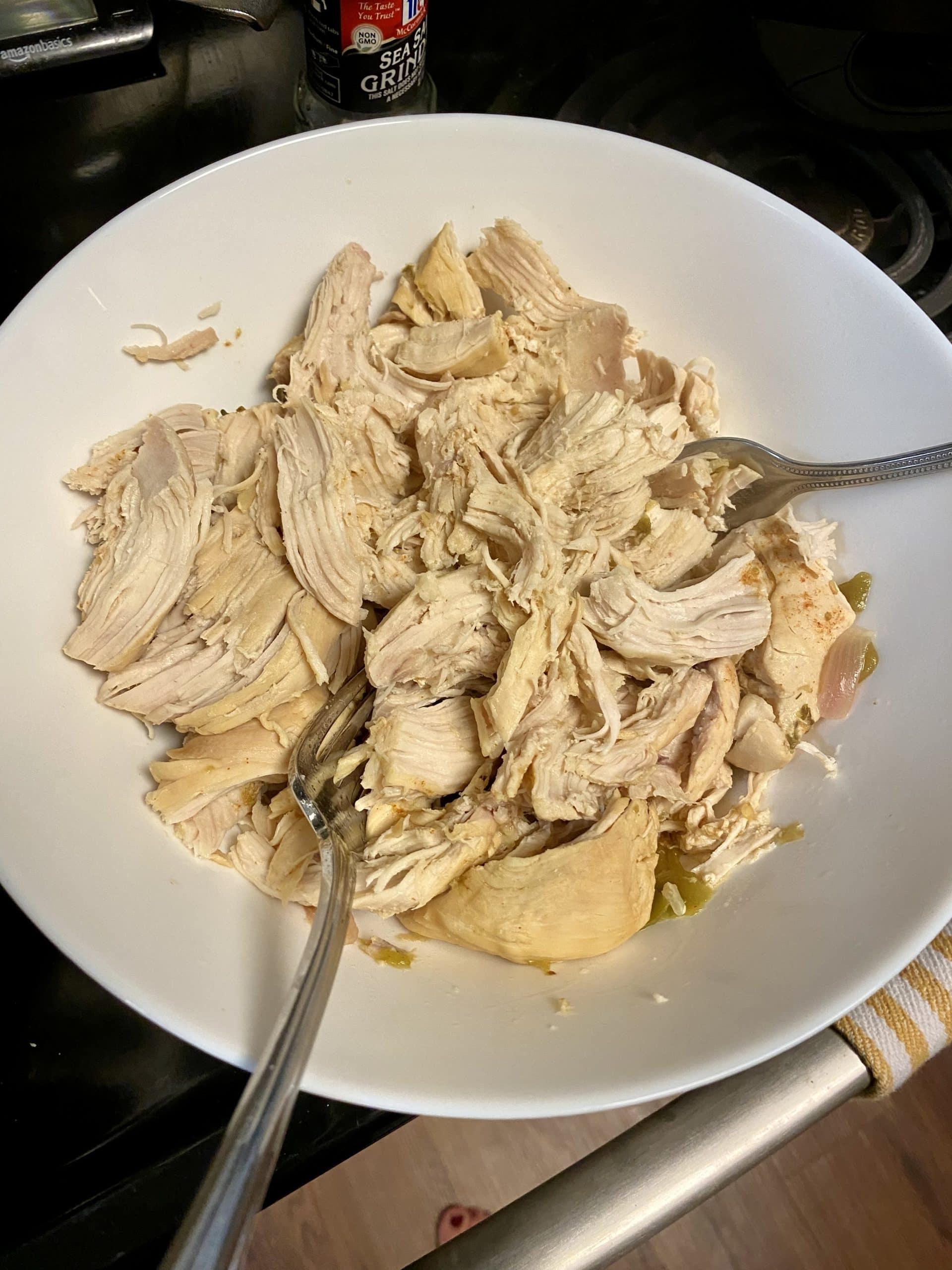 shredding chicken breast