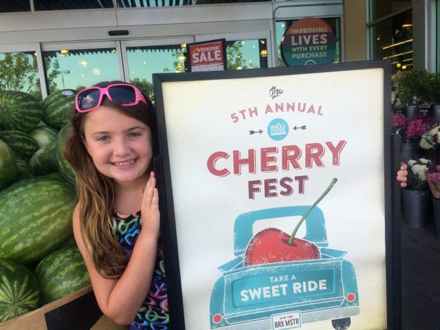 cherry fest sign