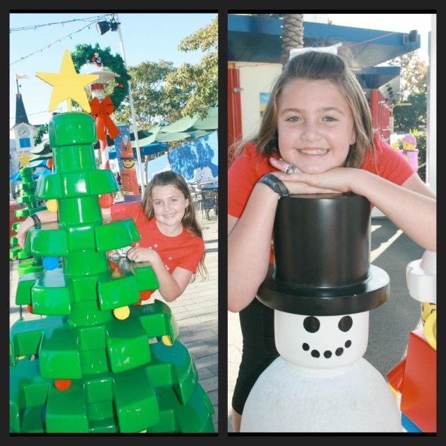 Lego tree and Lego snowman