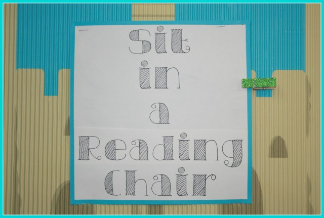 sit in a reading chair
