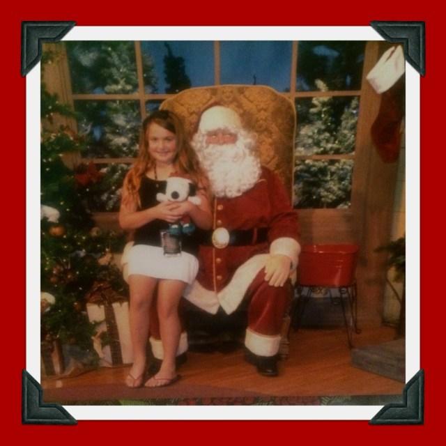 Emi and Knott's Santa