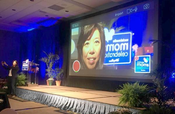 disney-social-media-moms-victoria-lim-on-camera