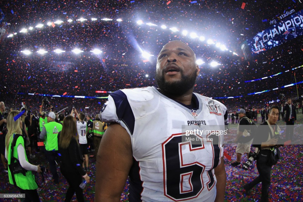 Patriots right tackle, Marcus Cannon