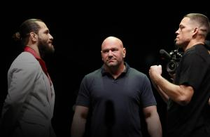 Jorge Masvidal and Nate Diaz face off