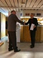 Henrik Luttu tilldelas Svenska Fotbollförbundets Ungdomsledar diplom och Sv FF Ledardiplom