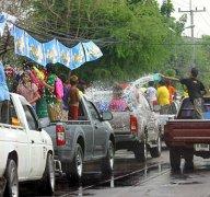 watergevechten in Thailand