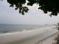 het strand naar het zuiden