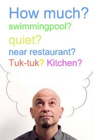 belangrijk bij vakantiewoning Thailang