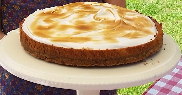 Citroen-merengue cheesecake