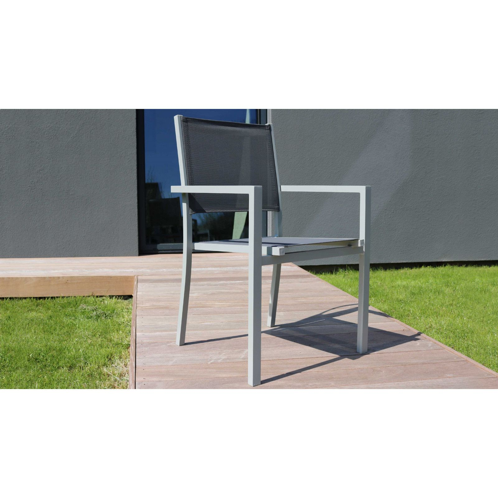 salon jardin aluminium 1 table et 8