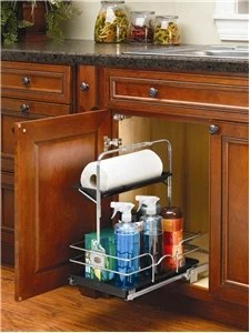 under sink pull out chrome caddy