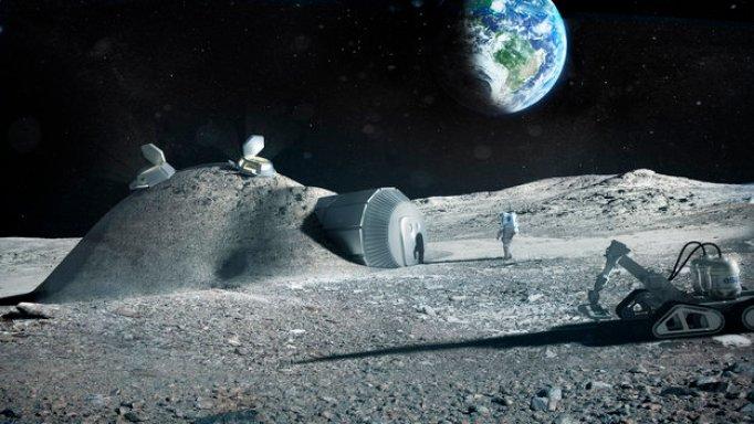 Poderia haver uma base secreta escondida em algum lugar (ou dentro) da Lua?