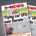 OVNI / UFO em formato de automóvel aparece no céu de cidade da Austrália 20
