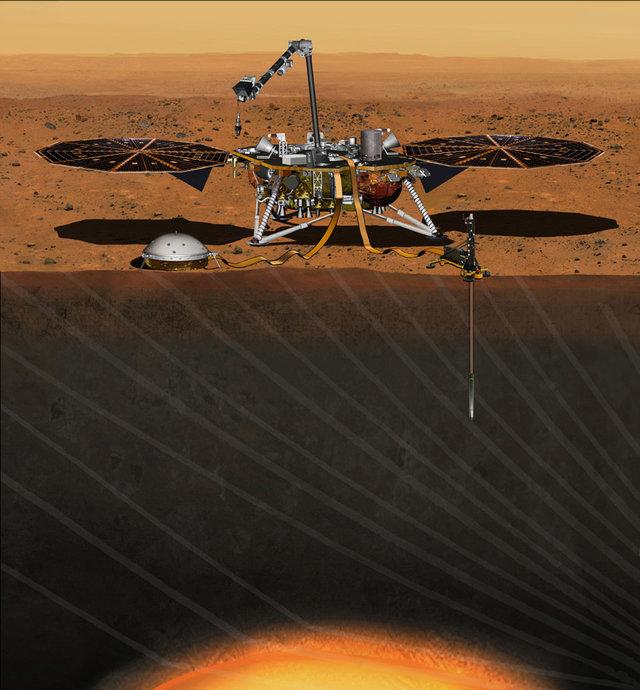 descida da sonda InSight da NASA em Marte Misterioso 'zumbido' é detectado em meio a terremotos em Marte