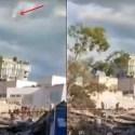 OVNI aparece em reportagem do terremoto no México 24