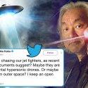 OVNI perseguido por jatos pode ter sido drone hipersônico ou alienígena, diz físico 5