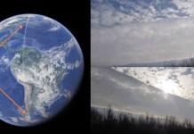 Linha misteriosa é detectada cortando o planeta do Polo Norte ao Polo Sul