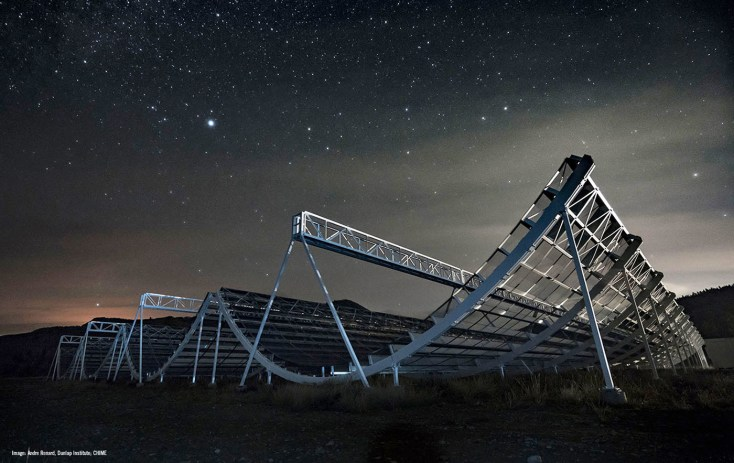Telescópio CHIME detecta centenas de misteriosos sinais alienígenas