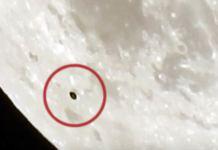 OVNI é filmado passando na frente da Lua