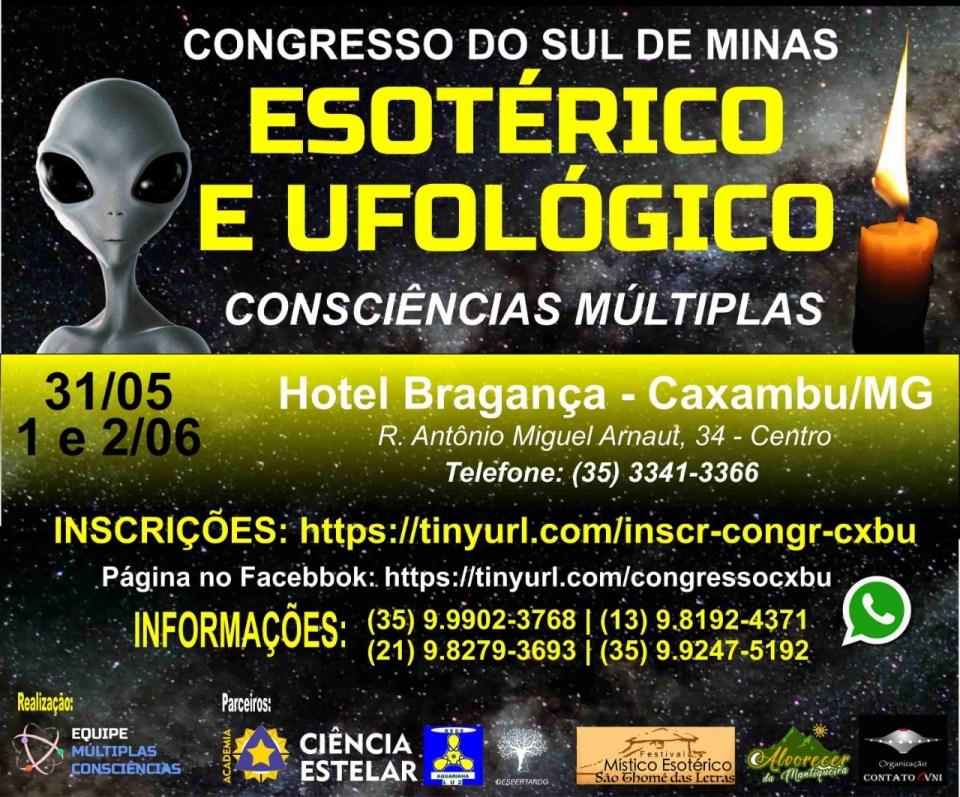 Congresso do Sul de Minas Consciência Múltiplas - Esotérico e Ufológico 1