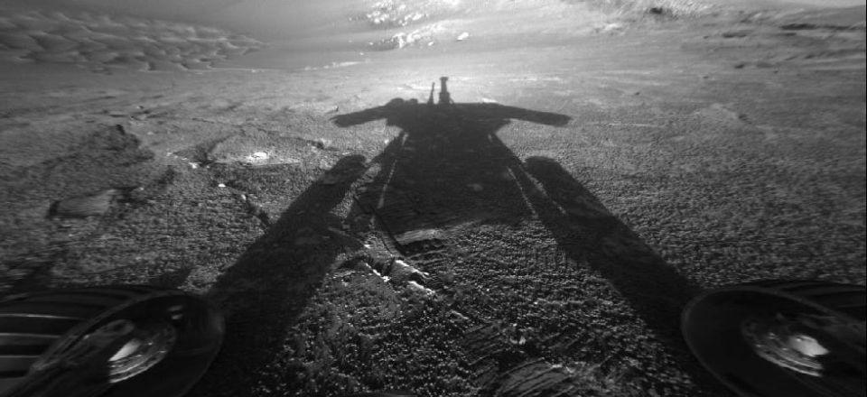 nuvens em Marte