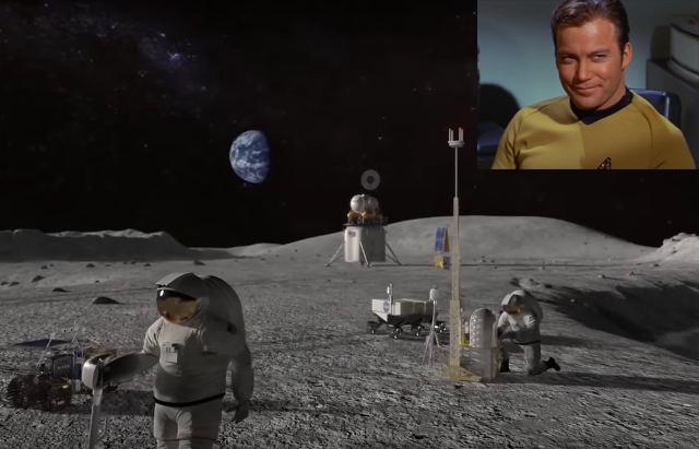 Capitão Kirk nos leva a uma viagem até a Lua