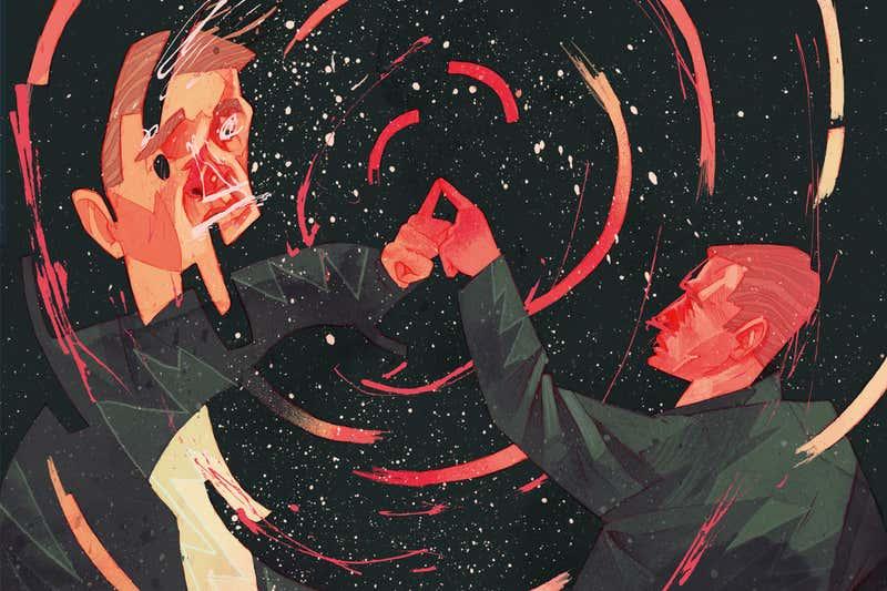 Pode haver um universo espelho que está tocando o nosso. Teoria da imagem espelhada.