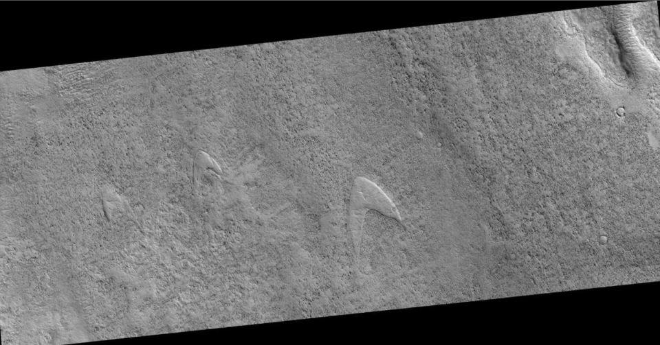 Star Trek em Marte: NASA avista o logotipo das naves estelares da famosa série 1