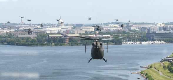 Exército dos EUA conduz operação secreta em Washington D.C.
